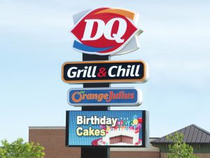 Dairy Queen Pylon Sign