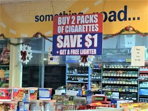 promotional checkout signage