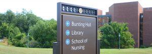Attractive Outdoor Campus Wayfinding Sign