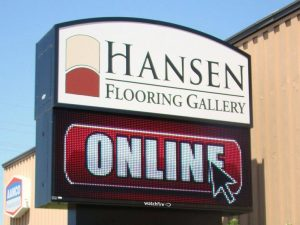 custom lighted digital message board pole sign
